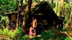 Amatör sex nära trä hus