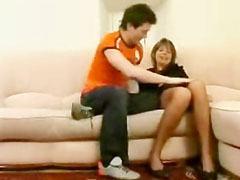 Den ryska mamma och ung pojke