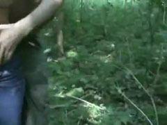 Knulla i skogen med min flickvän