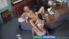 Den blonda receptionisten och den förföriska sjuksköterskan