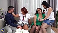 De tre mogna damerna och den lyckliga pojken